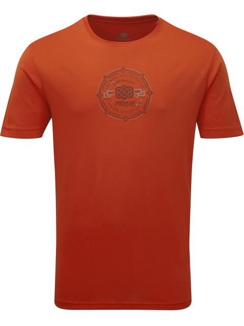 Sherpa Kimti t-shirt Heren rood